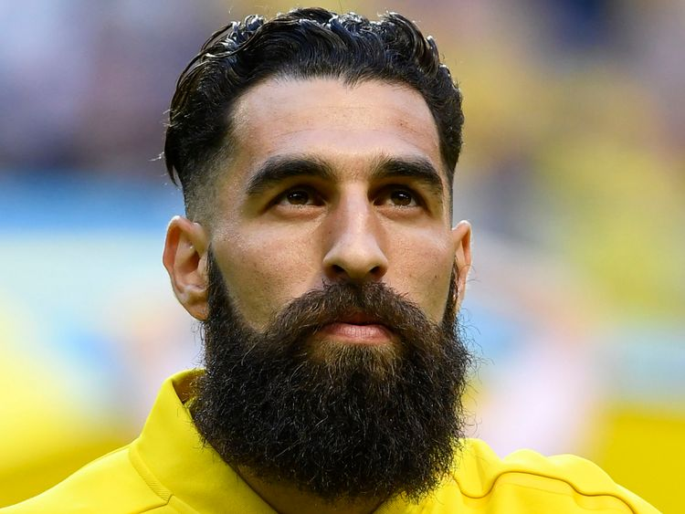 Sweden's midfielder Jimmy Durmaz is pictured prior to the international friendly footbal match Sweden v Denmark in Solna, Sweden on June 2, 2018. (Photo by Jonathan NACKSTRAND / AFP) (Photo credit should read JONATHAN NACKSTRAND/AFP/Getty Images)