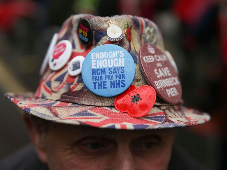 NHS workers attended the march