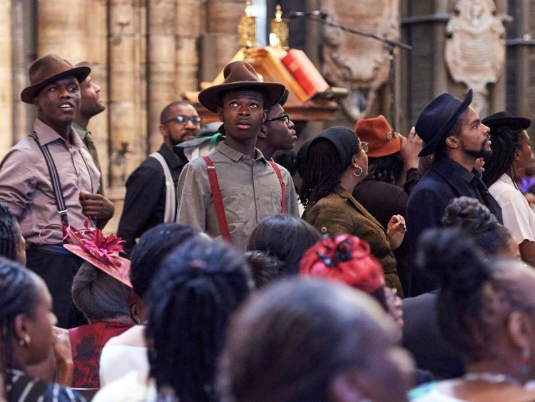 70th anniversary of the landing of the Windrush, at Westminster Abbey on June 22, 2018