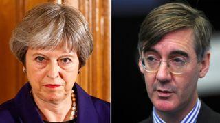 Theresa May and Jacob Rees Mogg