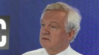 David Davis reacts to news of Boris Johnson's resignation over Brexit stance of government