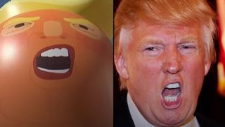 Nona Hurkmans, who's behind the giant Trump baby balloon, says Trump 'definitely knows it exists'.