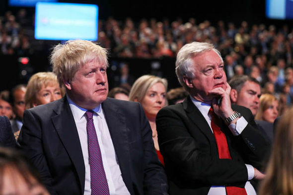 Tory party chaos: Johnson and Davis