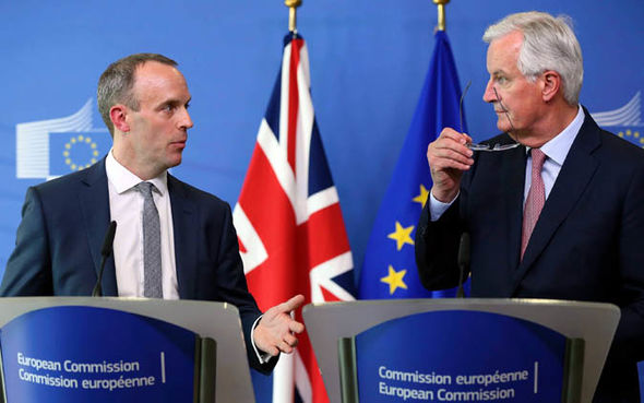 Brexit no deal: Dominic Raab and Michel Barnier