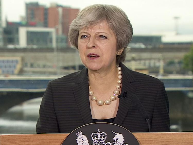 Theresa May objects to EU's stance on Northern Ireland border post-Brexit