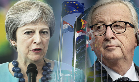 brexit news Theresa May jean-claude juncker