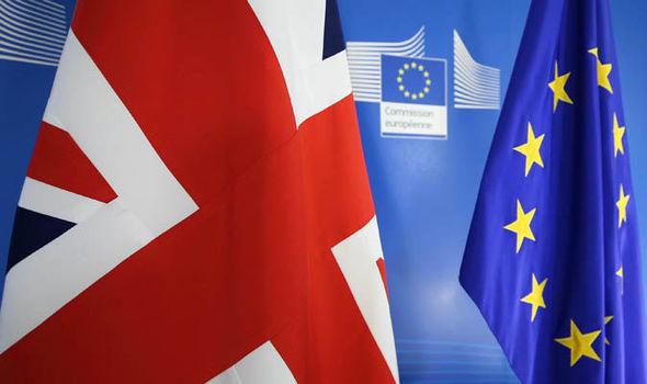 uk flag and eu flag