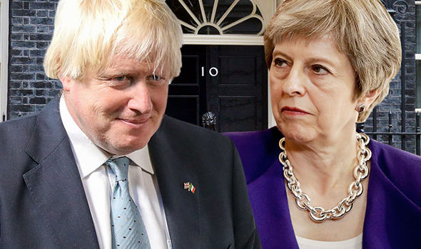 Tory party chaos: Johnson and May