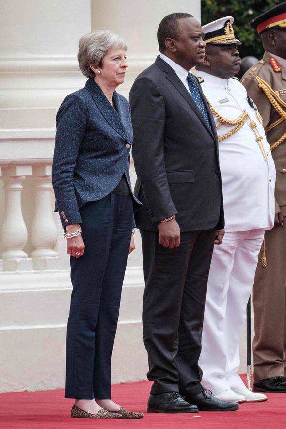 Theresa May and Uhuru Kenyatta