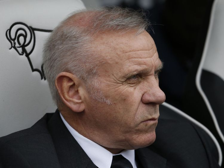 DERBY, ENGLAND - APRIL 09: Peter Reid, part of the Bolton coaching staff during the Sky Bet Championship match between Derby County and Bolton Wanderers at the iPro Stadium on April 09, 2016 in Derby, United Kingdom. (Photo by Alan Crowhurst/Getty Images)
