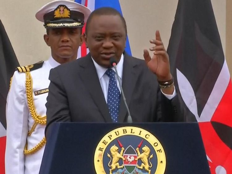 President of Kenya temporarily forgets Boris Johnson's surname