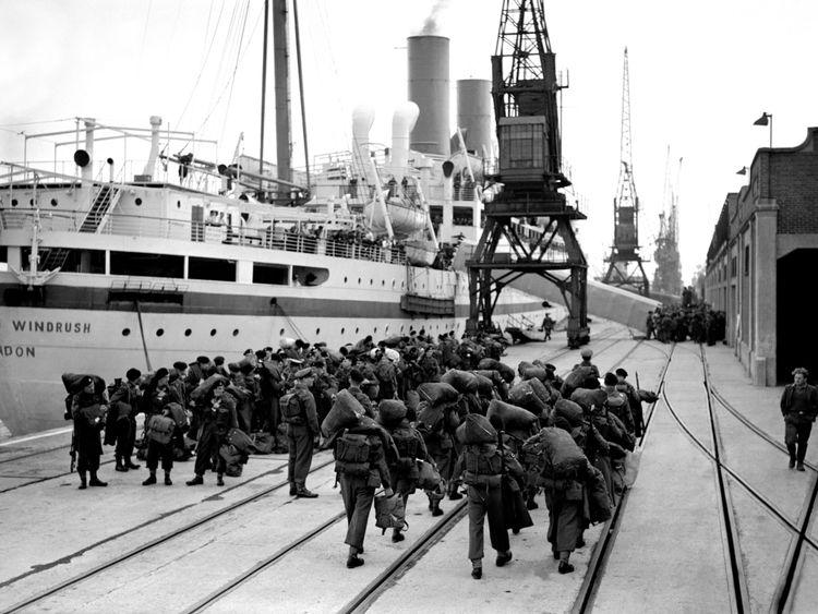 British troops prepare to board Empire Windrush in Southampton heading to Korea