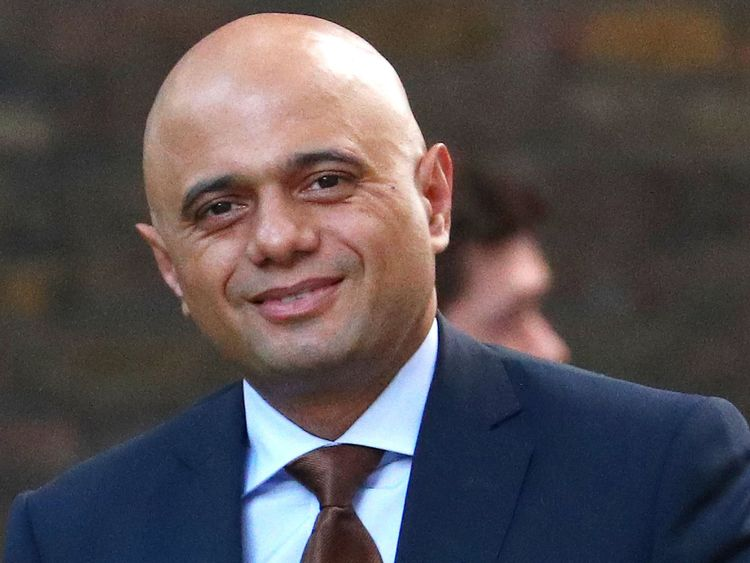 Home Secretary Sajid Javid arrives in Downing Street