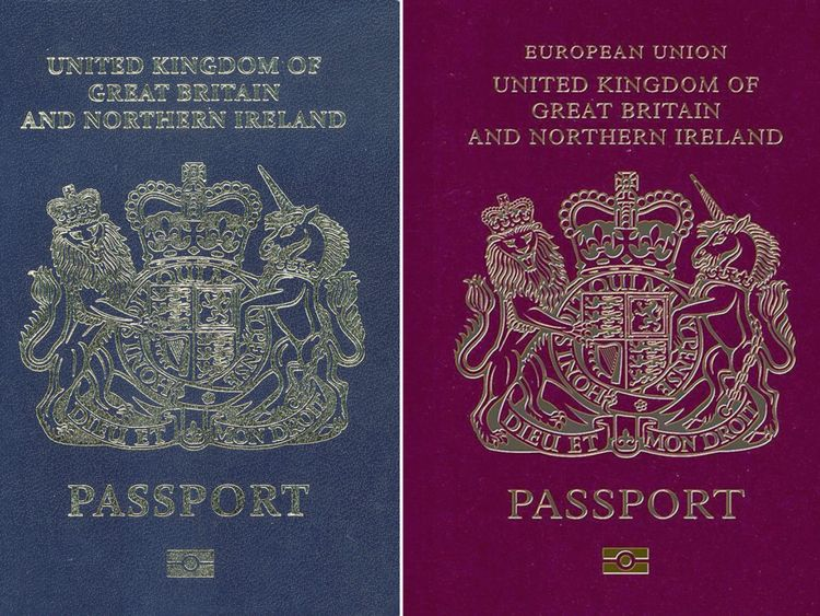 New and old passports