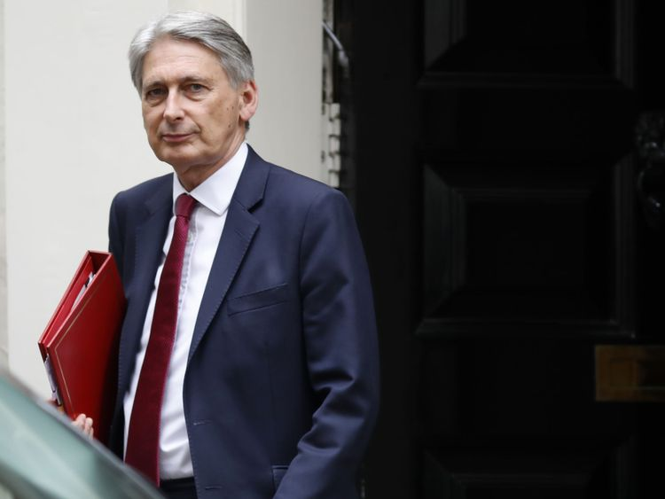 Britain's Chancellor of the Exchequer Philip Hammond leaves 11 Downing street in London on July 18, 2018. (Photo by Tolga AKMEN / AFP) (Photo credit should read TOLGA AKMEN/AFP/Getty Images)