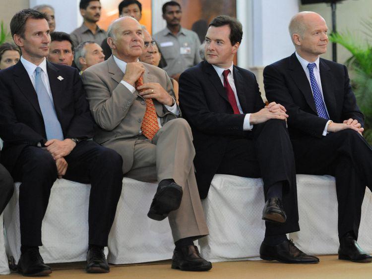 Jeremy Hunt, Vince Cable, George Osborne and William Hague