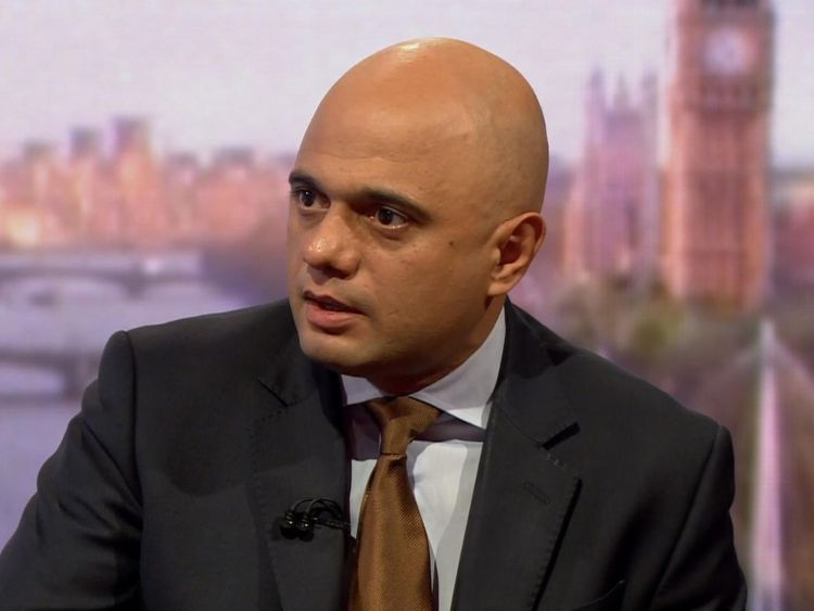 Sajid Javid on the BBC's Andrew Marr programme