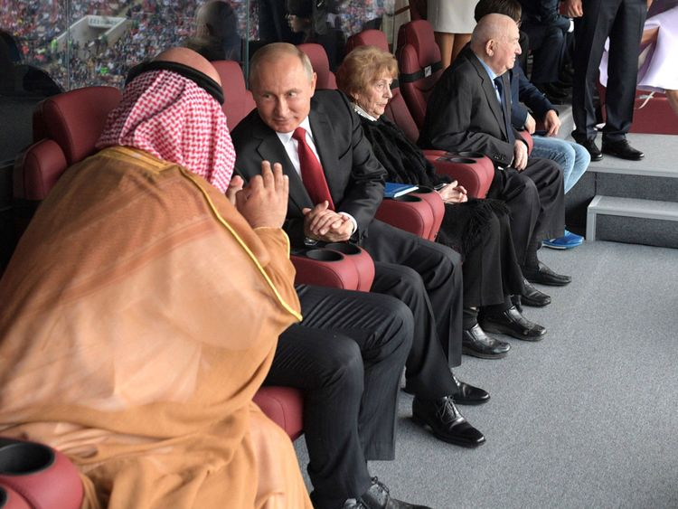 putin and salman at world cup opener