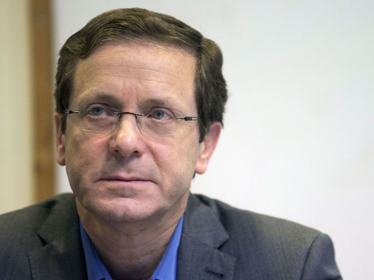 Israeli co-leader of the Zionist Union party and Labour Party's leader, Isaac Herzog listens during a joint press conference at the party headquarters in the Israeli coastal city of Tel Aviv on March 18, 2015 a day after the country's general election. After a closely-fought campaign, Israeli Prime Minister Benjamin Netanyahu's
