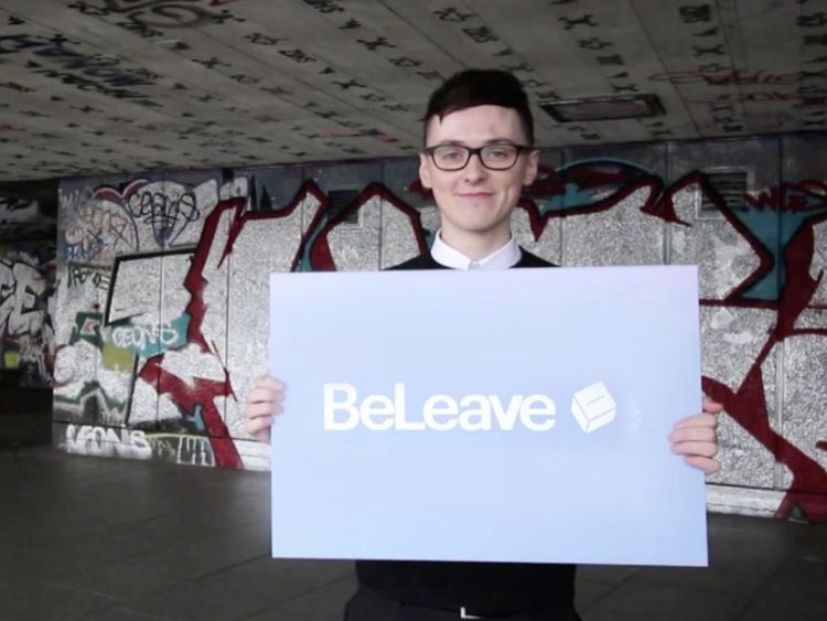 Darren Grimes ran the youth-focused BeLeave campaign