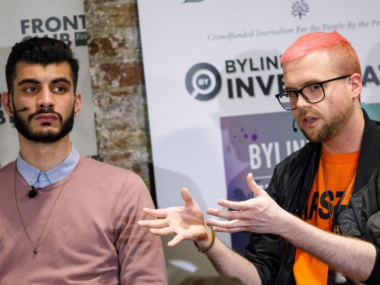 Whistleblowers Shahmir Sanni (L) and Christopher Wylie