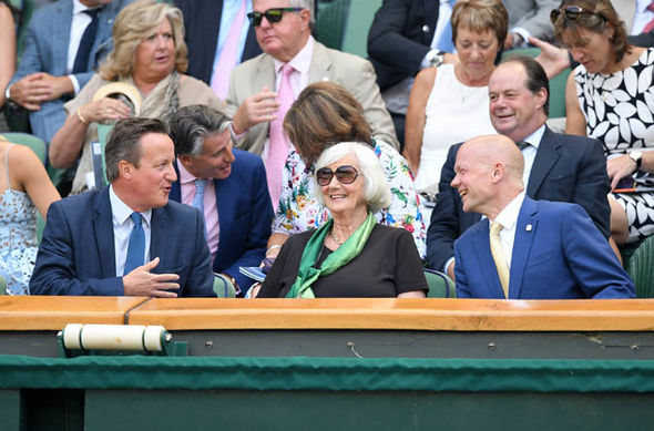 David Cameron, Mary Cameron and Lord Hague