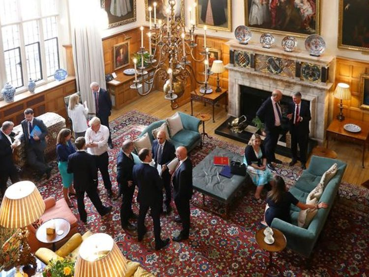 Ministers have had a luxurious lunch and dinner at Chequers. Pic: Crown Copyright