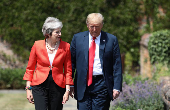 Tory party chaos: May and Trump