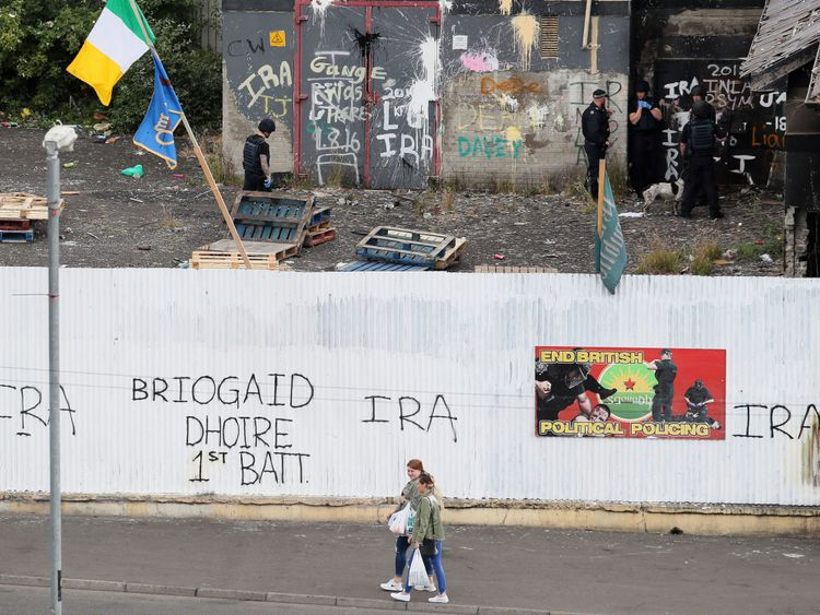 Youths in the city's Bogside threw petrol bombs at police and random passing vehicles and also lit a fire on a main flyover