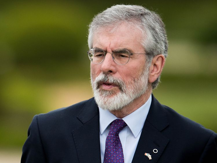 Gerry Adams was the leader of Sinn Fein from the 1980s until 2018