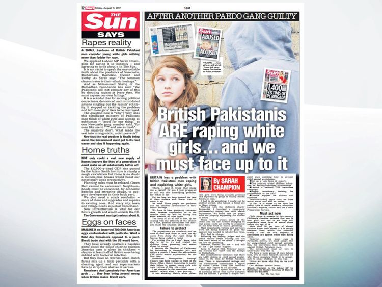 Sarah Champion's column in The Sun newspaper that forced her resignation