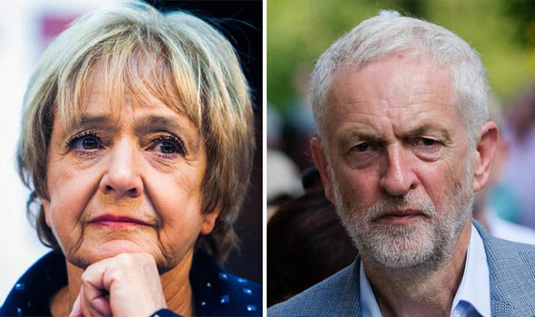Dame Margaret Hodge and Jeremy Corbyn