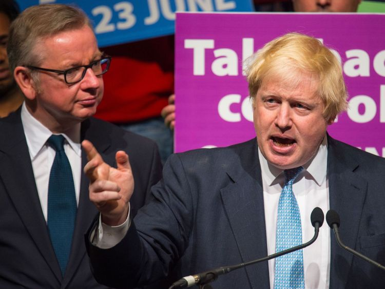 Boris Johnson and Michael Gove