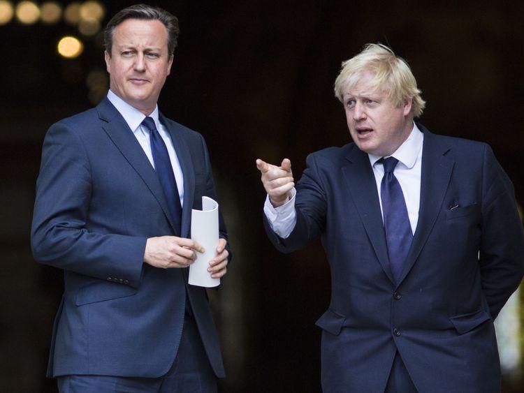 David Cameron called Boris Johnson his star player