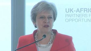 Theresa May talks about UK investment in Africa