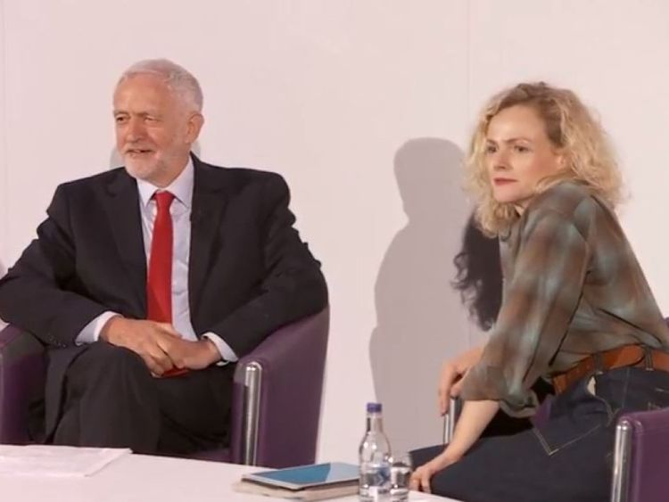 Jeremy Corbyn was quizzed by actress Maxine Peake