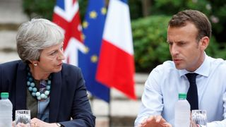 Theresa May and Macron have had discussions at Le Fort de Bregancon off the French Mediterranean coast