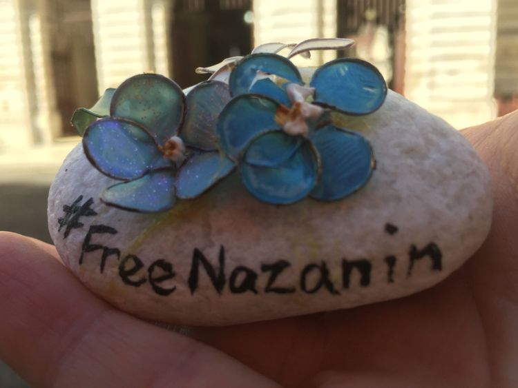 A stone given to Jeremy Hunt by jailed Iranian mother Nazanin Zaghari-Ratcliffe