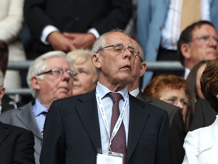 Stoke City Chairman Peter Coates in the stands