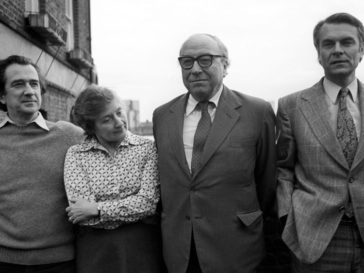 The 'gang of four' former Labour cabinet ministers (L-R) Bill Rodgers, Shirley Williams, Roy Jenkins and David Owen