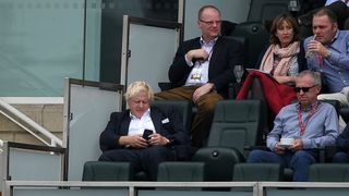 Boris Johnson was spotted in the members stand at the Oval