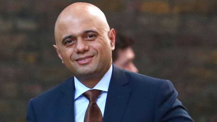 Home Secretary Sajid Javid arrives in Downing Street