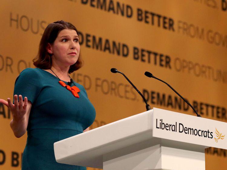 Liberal Democrats deputy leader Jo Swinson