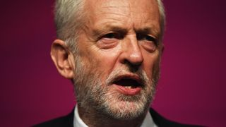 Labour Party leader Jeremy Corbyn addresses delegates on day four of the Labour Party conference in Liverpool.