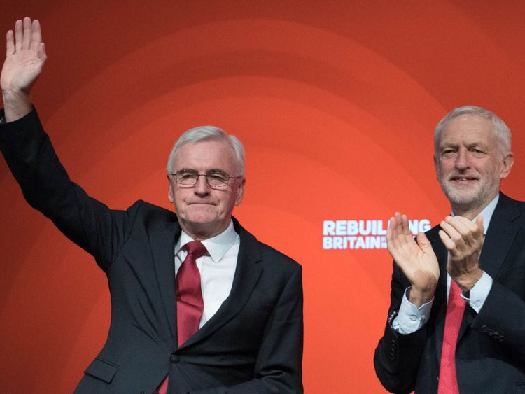 Labour leader Jeremy Corbyn and Shadow Chancellor of the Exchequer John McDonnell
