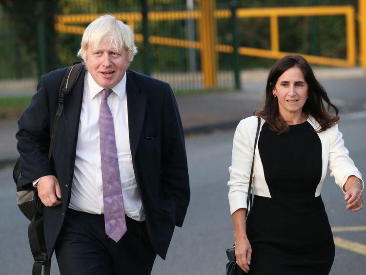 Boris Johnson arrives at Ruislip High School on September 12, 2014
