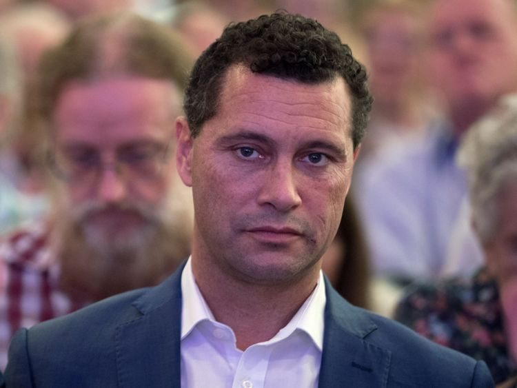Arron Banks has founded Blue Wave with Steven Woolfe, pictured